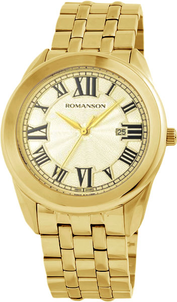 Мужские часы Romanson TM2615MG(GD) romanson tm 9248 mj wh