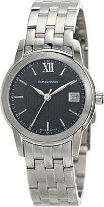 Женские часы Romanson TM2649LW(BK) romanson rm 6a31c lw wh