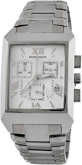 лучшая цена Мужские часы Romanson TM4123HMW(WH)