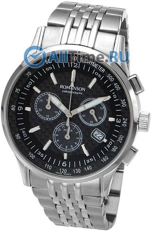 Мужские часы Romanson TM4131PMW(BK) romanson часы romanson tl0110slw bk коллекция adel