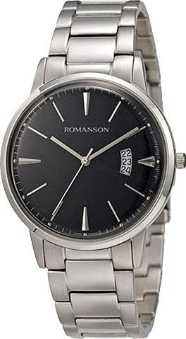 цена Мужские часы Romanson TM4201MW(BK) онлайн в 2017 году