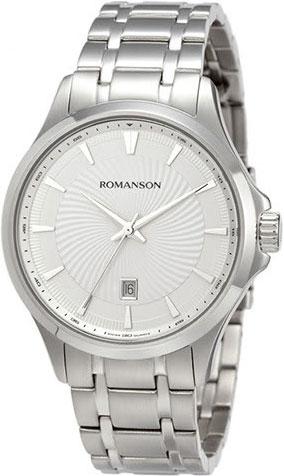 Мужские часы Romanson TM4222MW(WH) romanson tm 9248 mj wh