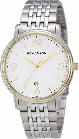 Мужские часы Romanson TM4259MC(WH) romanson tm 4259 mj wh