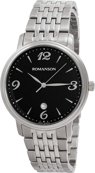 Мужские часы Romanson TM4259MW(BK) romanson romanson tm 4259 lc wh