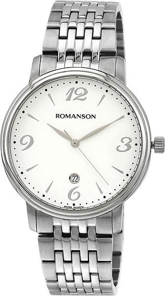 Мужские часы Romanson TM4259MW(WH) romanson tm 9248 mj wh