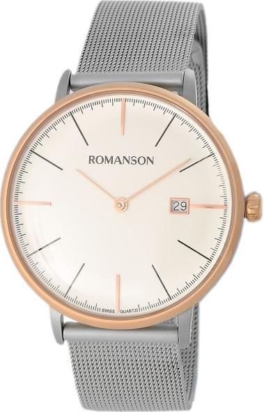 Мужские часы Romanson TM4267MJ(WH) romanson tm 4123h mj wh