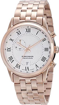Мужские часы Romanson TM5A22HMR(WH) romanson tm 9248 mj wh