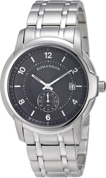 цена Мужские часы Romanson TM6A21JMW(BK) онлайн в 2017 году