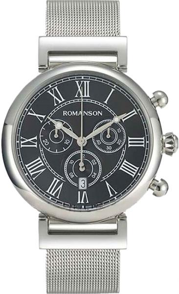 Мужские часы Romanson TM7A08HMW(BK)