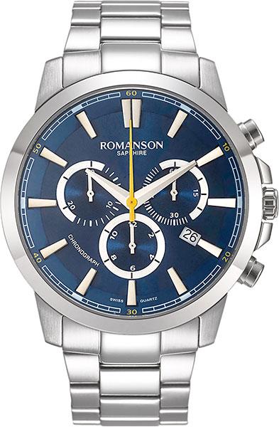Мужские часы Romanson TM8A11HMW(BU) romanson rl 6a11q lw bu