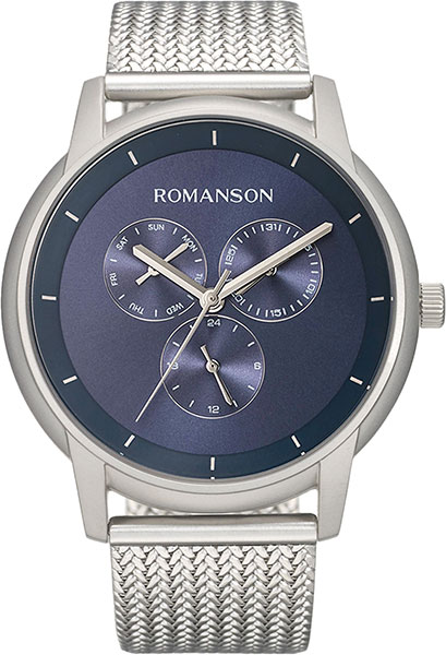 Мужские часы Romanson TM8A22FMW(BU) romanson rl 6a11q lw bu