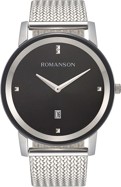 Мужские часы Romanson TM8A23MMW(BK) мужские часы romanson tm8a19hmb bk