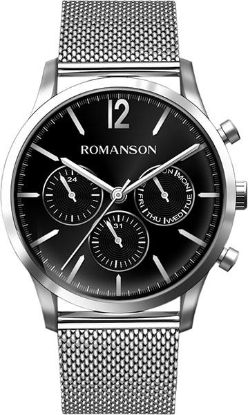 лучшая цена Мужские часы Romanson TM8A34FMW(BK)