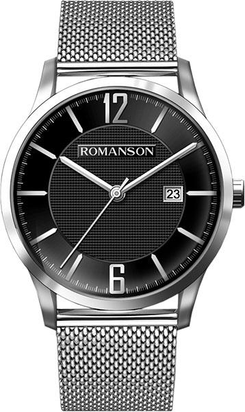Мужские часы Romanson TM8A40MMW(BK) u7 2016 новая мода силиконовая и нержавеющая сталь браслет мужчины изделий 18k позолоченный браслеты