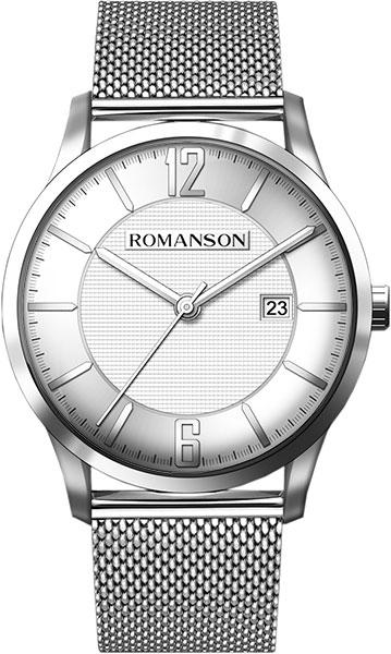Мужские часы Romanson TM8A40MMW(WH) u7 2016 новая мода силиконовая и нержавеющая сталь браслет мужчины изделий 18k позолоченный браслеты