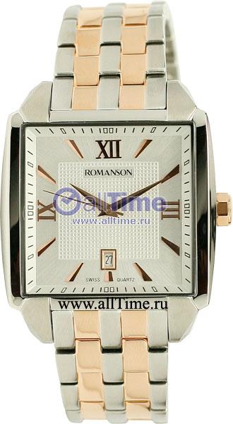 Мужские часы Romanson TM9216MJ(WH) romanson часы romanson tm7266mj wh коллекция adel
