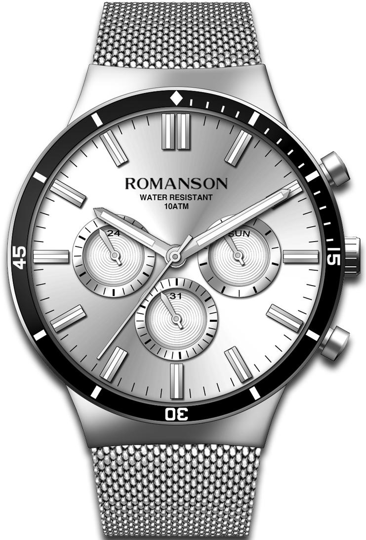 Мужские часы Romanson TM9A20FMW(WH)