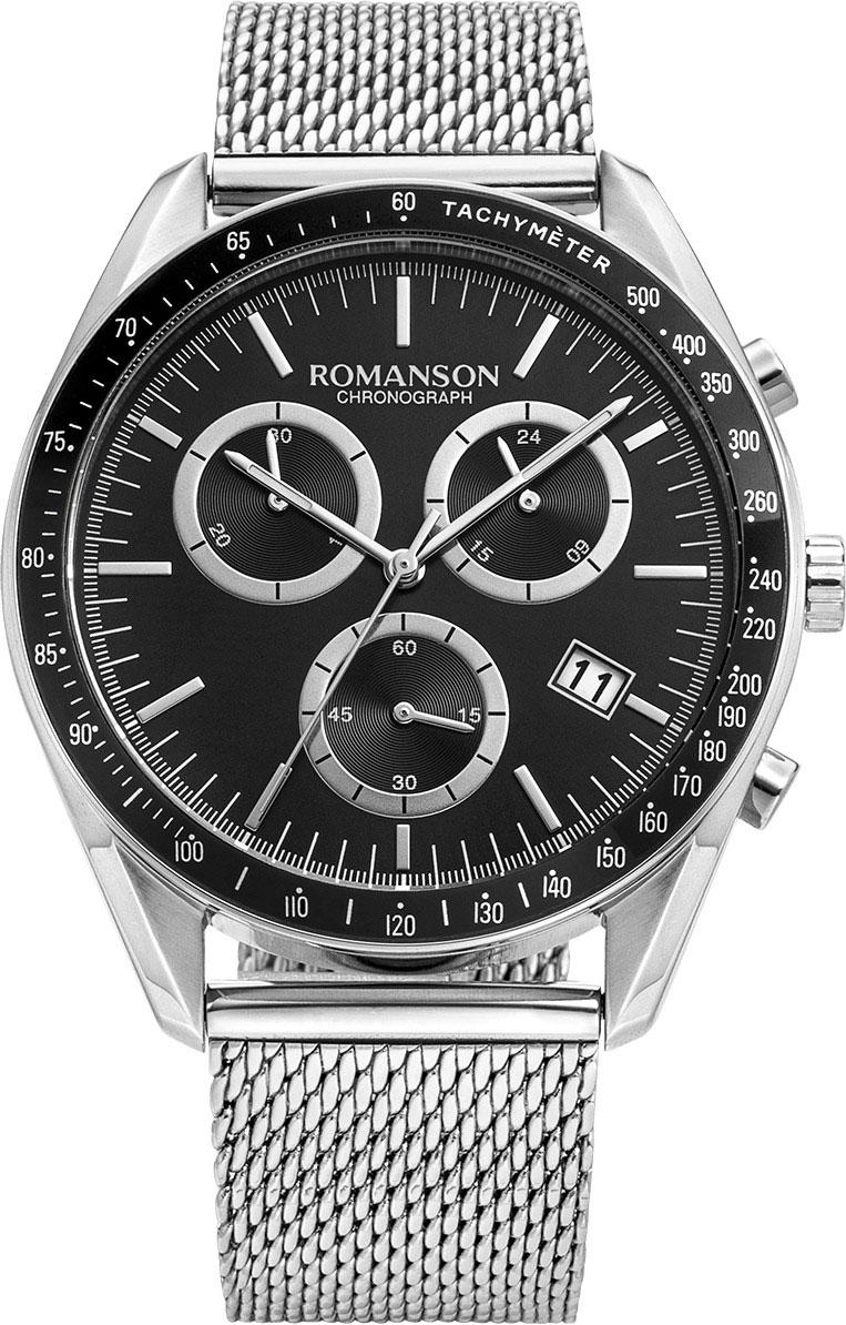Мужские часы Romanson TM9A21HMW(BK)