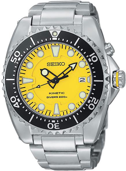 Часы Seiko Kinetic SKA367P. В наличии. Автокварцевые часы Нержавеющая сталь Минеральное стекло WR 200 Мужские