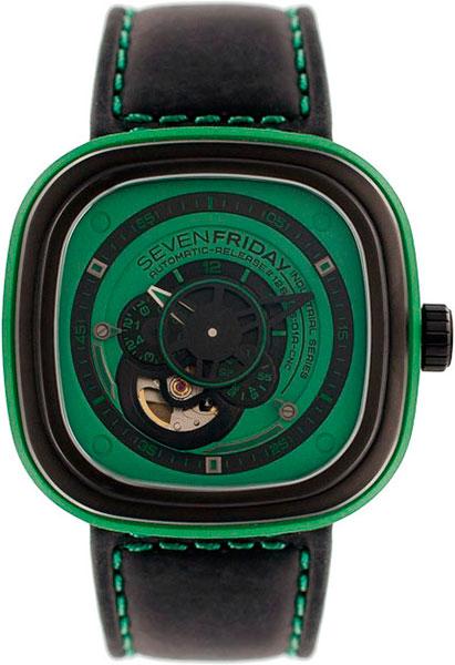 Купить Наручные часы P1/5-green  Мужские наручные швейцарские часы в коллекции Industrial Essence SEVENFRIDAY