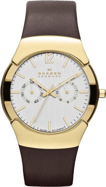 Мужские часы Skagen 583XLGLD дизайн панков турецкий браслеты для глаз для мужчин женщины новая мода браслет женский сова кожаный браслет камень