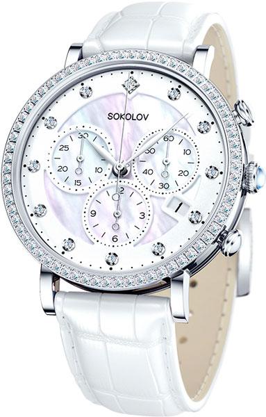 Фото «Российские серебряные наручные часы SOKOLOV 127.30.00.001.03.02.2 с хронографом»