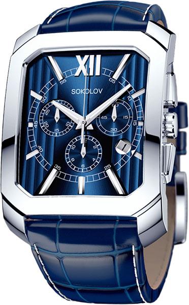 Фото «Российские серебряные наручные часы SOKOLOV 144.30.00.000.03.03.3 с хронографом»