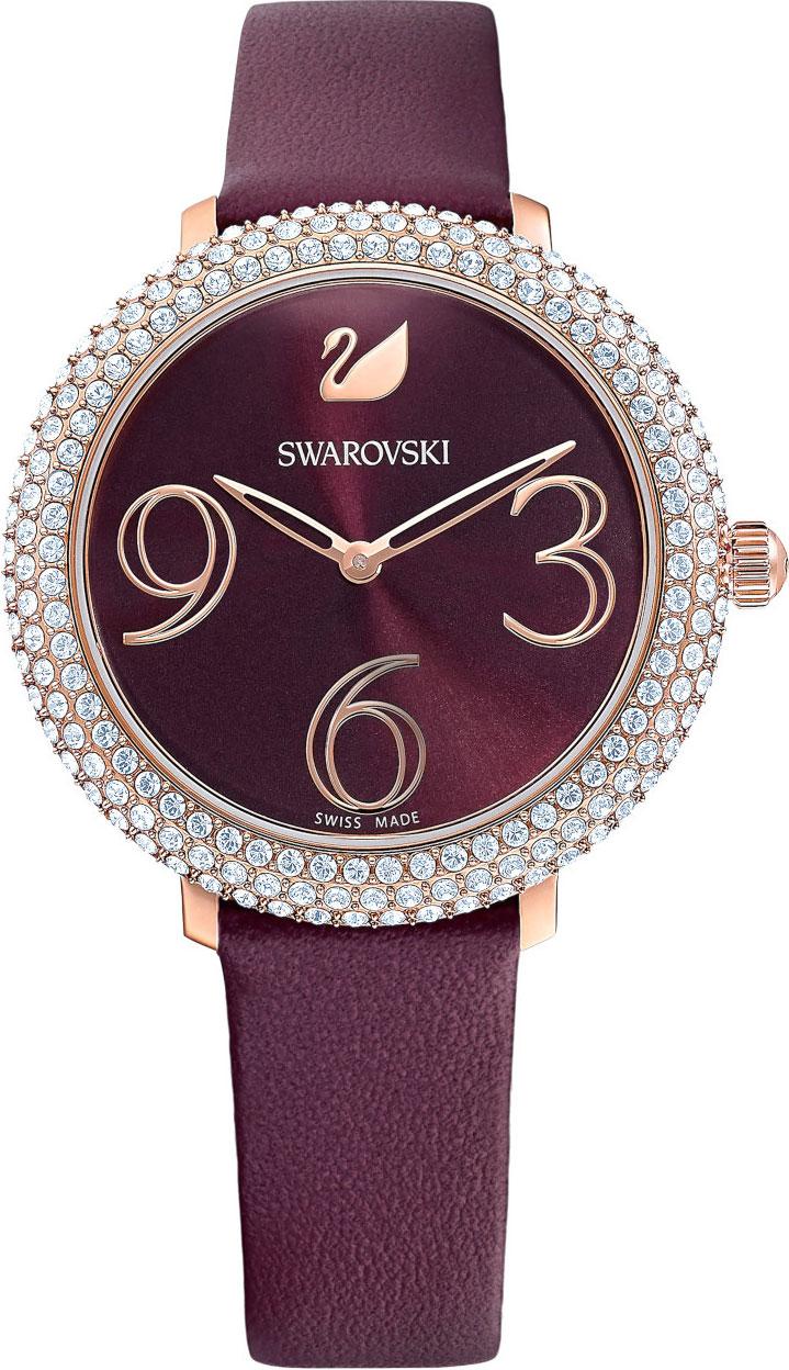 Женские часы Swarovski 5484064 chigu фиолетовый с розовым 38 мм