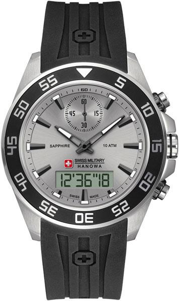 Мужские часы Swiss Military Hanowa 06-4222.04.009-ucenka мужские часы hanowa 16 4042 02 002 ucenka
