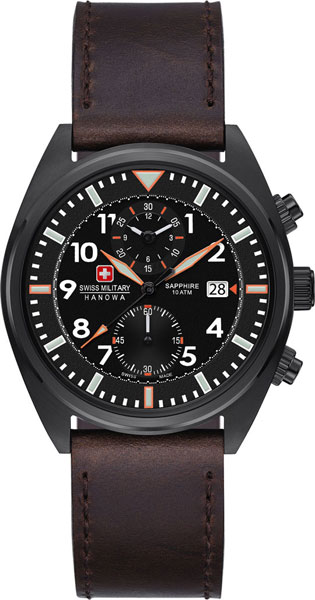 Мужские часы Swiss Military Hanowa 06-4227.13.007-ucenka мужские часы hanowa 16 4042 02 002 ucenka