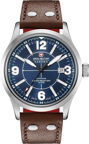 Мужские часы Swiss Military Hanowa 06-4280.04.003.10CH дизайн панков турецкий браслеты для глаз для мужчин женщины новая мода браслет женский сова кожаный браслет камень