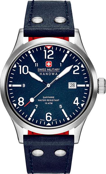 Мужские часы Swiss Military Hanowa 06-4280.04.003CH дизайн панков турецкий браслеты для глаз для мужчин женщины новая мода браслет женский сова кожаный браслет камень
