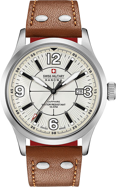 Мужские часы Swiss Military Hanowa 06-4280.04.002.02.10CH дизайн панков турецкий браслеты для глаз для мужчин женщины новая мода браслет женский сова кожаный браслет камень