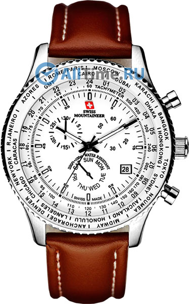 цена Мужские часы Swiss Mountaineer SM1215 онлайн в 2017 году