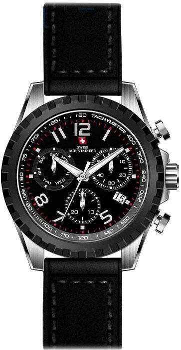 Мужские часы Swiss Mountaineer SM2010 ремешок для мужских часов широкий
