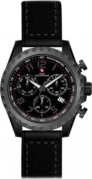Мужские часы Swiss Mountaineer SM2012 ремешок для мужских часов широкий