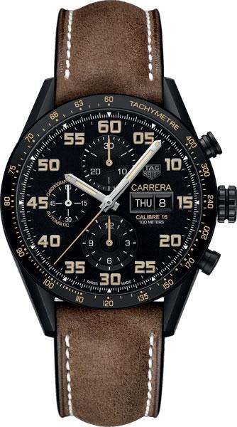 Швейцарские механические титановые наручные часы TAG Heuer CV2A84.FC6394 с хронографом