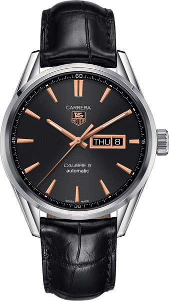 Мужские часы TAG Heuer WAR201C.FC6266 soft matte leather strap 22mm for heuer carrera 5 drive timer heuer monaco men s mechanical watch with black brown leather