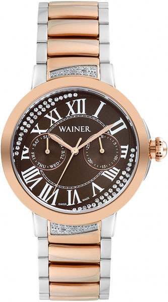 цена Женские часы Wainer WA.18600-E онлайн в 2017 году