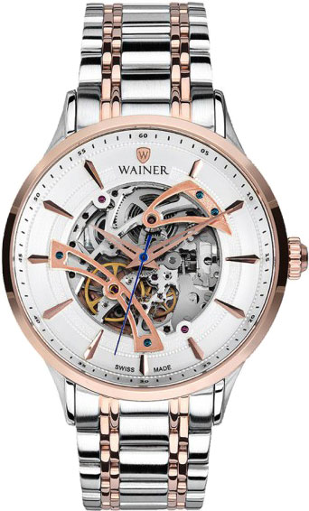 Мужские часы Wainer WA.25775-D2 44mm parnis 316l stainless steel screw pvd case fit 6498 6497 movement