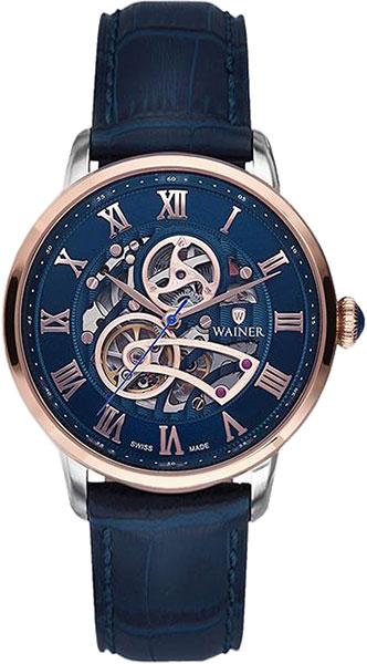 Мужские часы Wainer WA.25990-B купить часы мужские с открытым механизмом