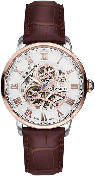 Мужские часы Wainer WA.25990-D купить часы мужские с открытым механизмом