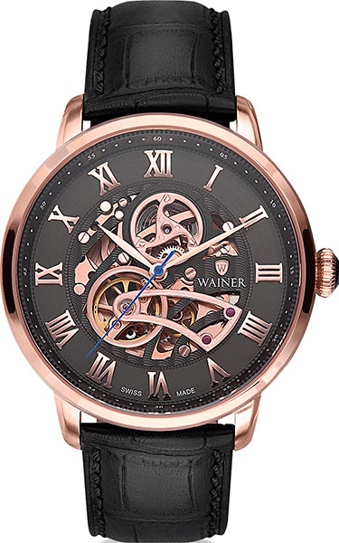 Мужские часы Wainer WA.25990-E купить часы мужские с открытым механизмом
