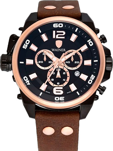Мужские часы Wainer WA.10980-O ручка cross sauvage brown chrome at0312 4