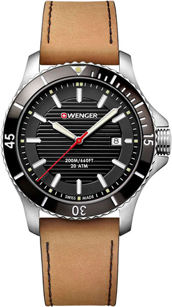 Мужские часы Wenger 01.0641.125 точная копия швейцарских часов