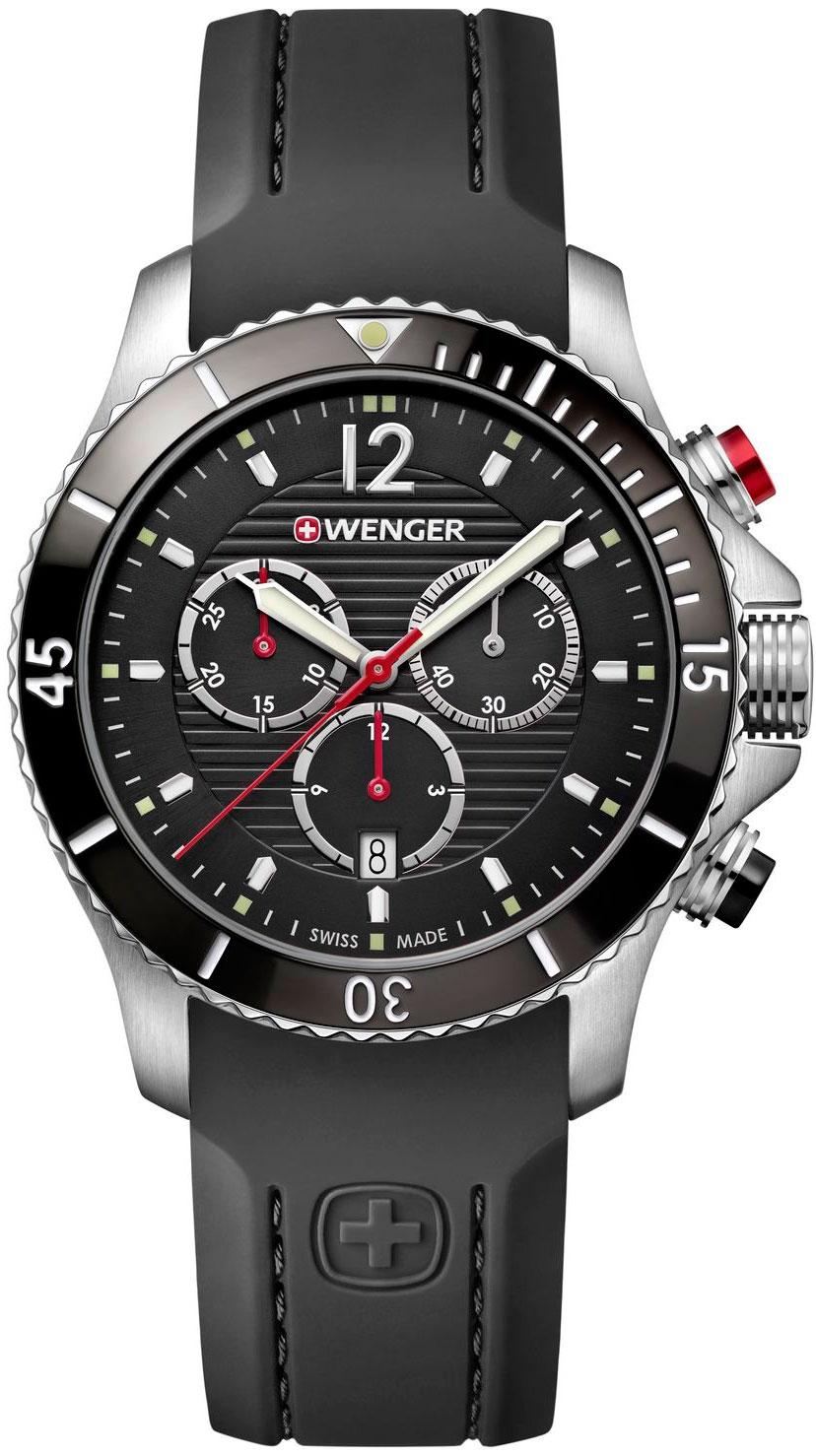 Фото «Швейцарские наручные часы Wenger 01.0643.108 с хронографом»