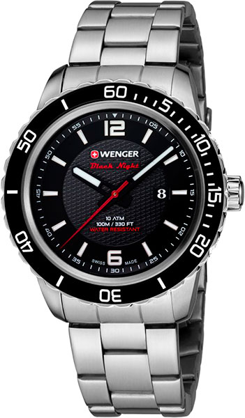 Мужские часы Wenger 01.0851.122 браслет стальной к часам маурицио