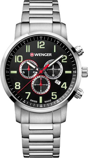 цена Мужские часы Wenger 01.1543.102 онлайн в 2017 году