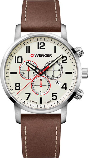 Фото «Швейцарские наручные часы Wenger 01.1543.105 с хронографом»