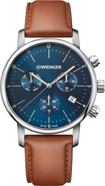 Швейцарские наручные часы Wenger 01.1743.104 с хронографом